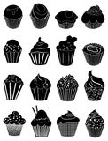 Cupcake icons set Royalty Free Stock Photo