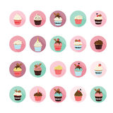 Cupcake icons set. Stock Photography