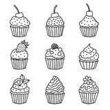 Cupcake icons. Stock Photography