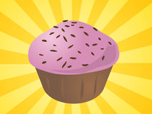 Cupcake illustration Royalty Free Stock Images