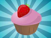 Cupcake illustration Stock Photos