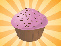 Cupcake illustration Royalty Free Stock Photography