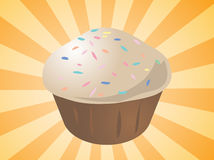 Cupcake illustration Royalty Free Stock Image