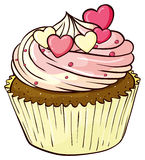 Cupcake. Illustration of an isolated cupcake on white Stock Photography