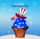 Cupcake for Independence Day Royalty Free Stock Images
