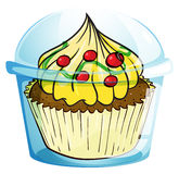 A cupcake inside the container Royalty Free Stock Photo