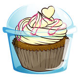A cupcake inside the disposable container Stock Photography