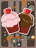 Cupcake invitation Stock Image