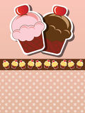 Cupcake invitation Royalty Free Stock Photos