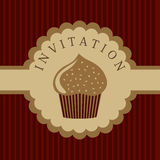 Cupcake invitation background Stock Image