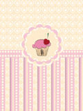 Cupcake invitation background royalty free illustration