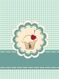 Cupcake invitation card Stock Images