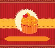 Cupcake invitation card Stock Photos