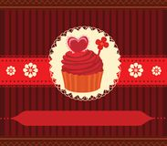 Cupcake invitation card Royalty Free Stock Photos