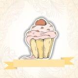 Cupcake invitation card Stock Photography
