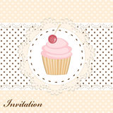 Cupcake invitation card Stock Photography