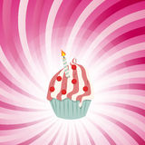 Cupcake invitation card vector illustration Royalty Free Stock Images