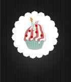 Cupcake Invitation Card Vector Illustration Royalty Free Stock Photo