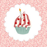 Cupcake invitation card vector illustration Stock Photo