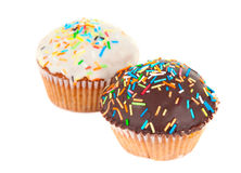Cupcake isolated Stock Images
