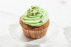 Cupcake isolated on neutral background Royalty Free Stock Images
