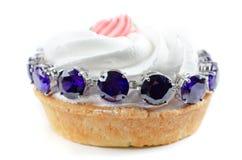 Cupcake and jewel Stock Photo