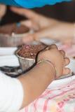 Cupcake - jonge geitjesdecoratie royalty-vrije stock fotografie