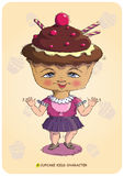 Cupcake Kids Character Royalty Free Stock Image