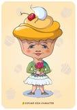 Cupcake Kids Character Stock Photos