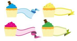 Cupcake label Royalty Free Stock Image