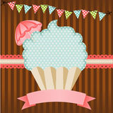 Cupcake label Stock Image