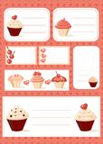 Cupcake labels. Set of cupcake labels,  illustration Royalty Free Stock Image