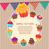 Cupcake layout frames design Royalty Free Stock Photo