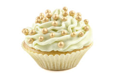 Cupcake with lemon butter cream Royalty Free Stock Photo
