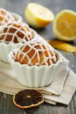 Cupcake with lemon and ginger. Stock Photos
