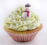 Cupcake with light green butter cream Royalty Free Stock Photos