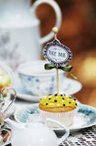 Cupcake like Alice in Wonderland Stock Images