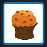 Cupcake. Logo that can be used in advertising Royalty Free Stock Photography