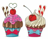 Cupcake logo Stock Image
