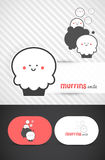 Cupcake logo design. Cute Muffin logo and template design for business cards, Vector EPS10 Royalty Free Stock Image
