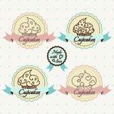 Cupcake logo set. Royalty Free Stock Photography