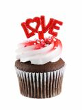 Cupcake love. Cupcake with love isolated on a white background Royalty Free Stock Photography