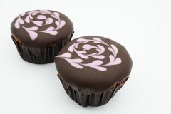 Cupcake. With love isolated Royalty Free Stock Images