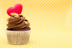 Cupcake of love Stock Images