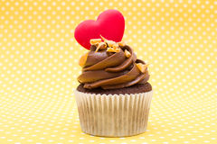 Cupcake of love Royalty Free Stock Image