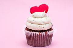 Cupcake of love Stock Image