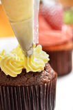 Cupcake making Stock Images