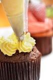 Cupcake making Stock Images
