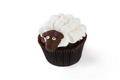 Cupcake with marshmallow Royalty Free Stock Images