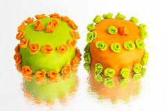 Cupcake marzipan decoration Royalty Free Stock Images